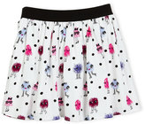 Kate Spade Pebbled Crepe Monster Skirt, Multicolor, Size 7-14