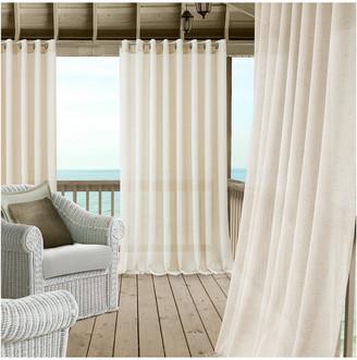 Elrene Carmen Sheer Extra Wide Indoor/Outdoor Window Curtain Panel With Tieback