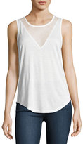 Paige Briley Mesh-V Tank Top, White