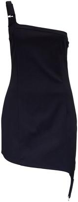 Coperni Upside Down One-Shoulder Mini Dress