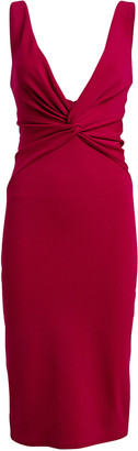 Katie May Zaza Twisted Crepe Sheath Dress