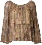 Mes Demoiselles peasant blouse with print