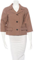 Marni Patterned Three-Quarter Sleeve Blazer