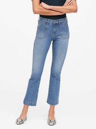 Banana Republic Mid-Rise Crop Flare Utility Jean