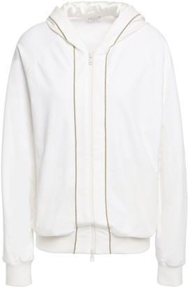 Brunello Cucinelli Bead-embellished French Cotton-blend Terry Hoodie