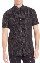 Ralph Lauren Purple Label Bond Polka Dot Sportshirt