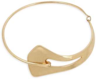 Robert Lee Morris Soho Goldtone Sculptural Collar Necklace