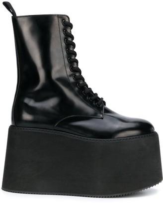 Moschino Platform Lace-Up Boots