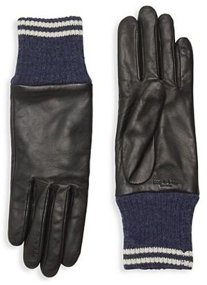 Rag & Bone Leather & Knit Ski Gloves