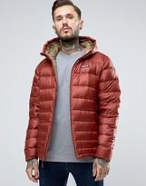 Patagonia Hi Loft Hooded Down Jacket In Red