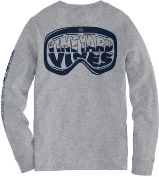 Vineyard Vines Boys' Ski Goggles Long-Sleeve Pocket T-Shirt