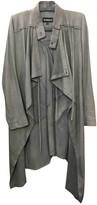 Ann Demeulemeester Grey Leather Coat for Women