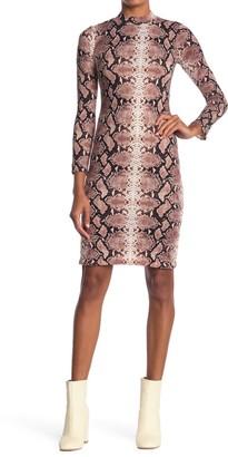 Velvet Torch Snakeskin Print Bodycon Dress