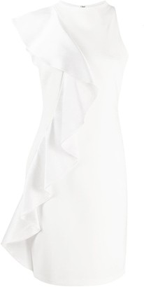 Alice + Olivia Draped Detail Sleeveless Dress