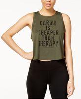 Jessica Simpson Juniors' Cropped Cardio Graphic Top