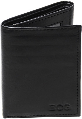 Cathy's Concepts Wallets Black - Black Oxford Tri-Fold Personalized Leather Wallet