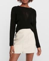 Express High Waisted Soft Knit Patch Pocket Mini Skirt