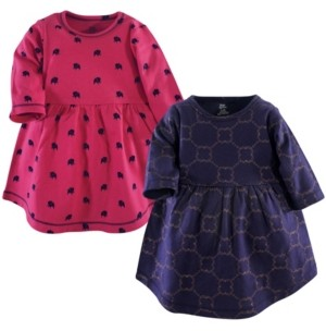 Yoga Sprout Cotton Dress, 2-Pack, 0Months-5T