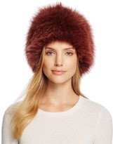 Loeffler Randall Tall Fox Fur Hat