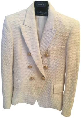 Balmain White Cotton Jackets