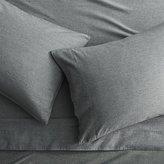 CB2 Brushed Flannel Black-White Full Sheet Set
