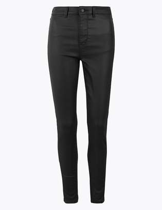 M&S CollectionMarks and Spencer High Waist Ankle Grazer Coated Jeggings