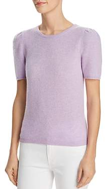 Bloomingdale's C by Puff-Sleeve Cashmere Sweater - 100% Exclusive