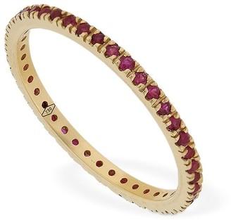 Annagreta Thin 18kt Gold & Ruby Ring