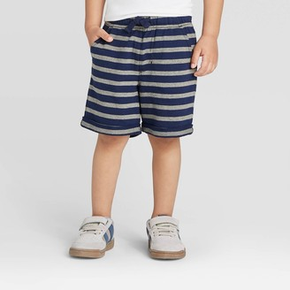 Cat & Jack Toddler Boys' Stripe Novelty Knit Pull-On Shorts - Cat & JackTM