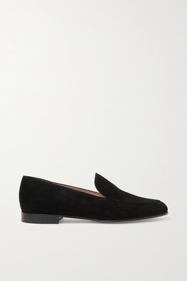 Gianvito Rossi Marcel 20 Suede Loafers - Black