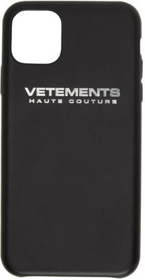 Vetements Black Logo iPhone 11 Pro Max Case