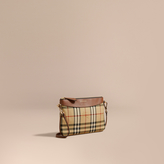 Burberry Horseferry Check and Leather Clutch Bag, Brown