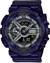 G-Shock Women's Analog-Digital S-Series Blue Resin Strap Watch 46x49mm GMAS110MC-2A