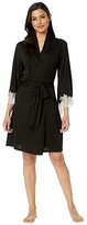 Natori Luxe Shangri-La Wrap (Black/Cocoon Lace) Women's Dress