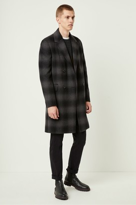 French Connection Check Double Breasted Coat