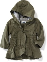 Old Navy Hooded Peplum-Hem Utility Jacket for Baby