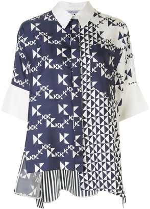 Dice Kayek Geometric Print Shirt