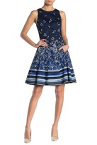 Maggy London Printed Fit & Flare Dress