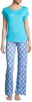 Jasmine Rose Cap-Sleeve Top and Pant Pajama Set