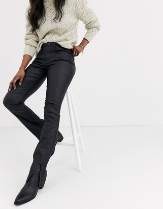 We The Free by Free People Spellbound coated bootcut jeans