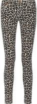 MICHAEL Michael Kors Kansuri Leopard-Print Low-Rise Skinny Jeans