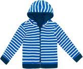 Jo-Jo JoJo Maman Bebe Reversible Zip Up Top (Toddler) - Navy-3-4
