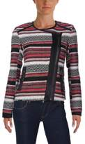 Jessica Simpson Womens Long Sleeves Striped Jacket