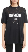 Givenchy Women's Destroyed Logo Tee