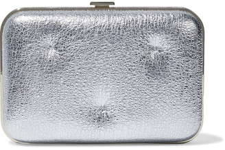 Anya Hindmarch Chubby Quilted Metallic Cracked-leather Box Clutch