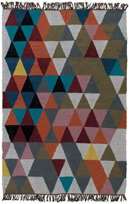 Ian Snow - Triangles Woven Wool Rug - 120x180cm