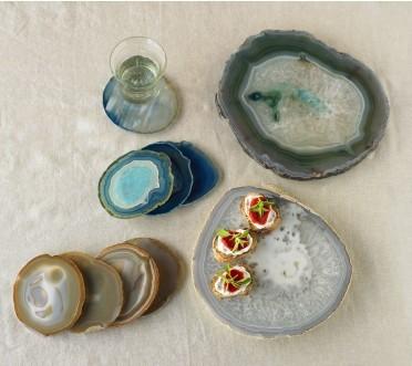 Viva Terra Agate Plates and Coasters
