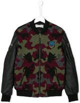 John Galliano patch bomber jacket