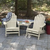Adirondack Camacho Wood Folding Chair with Table Longshore Tides Color: Whitewash