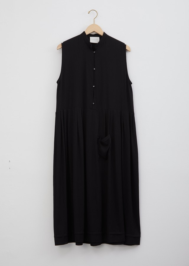 La Garçonne Moderne Mandarin Dress Black